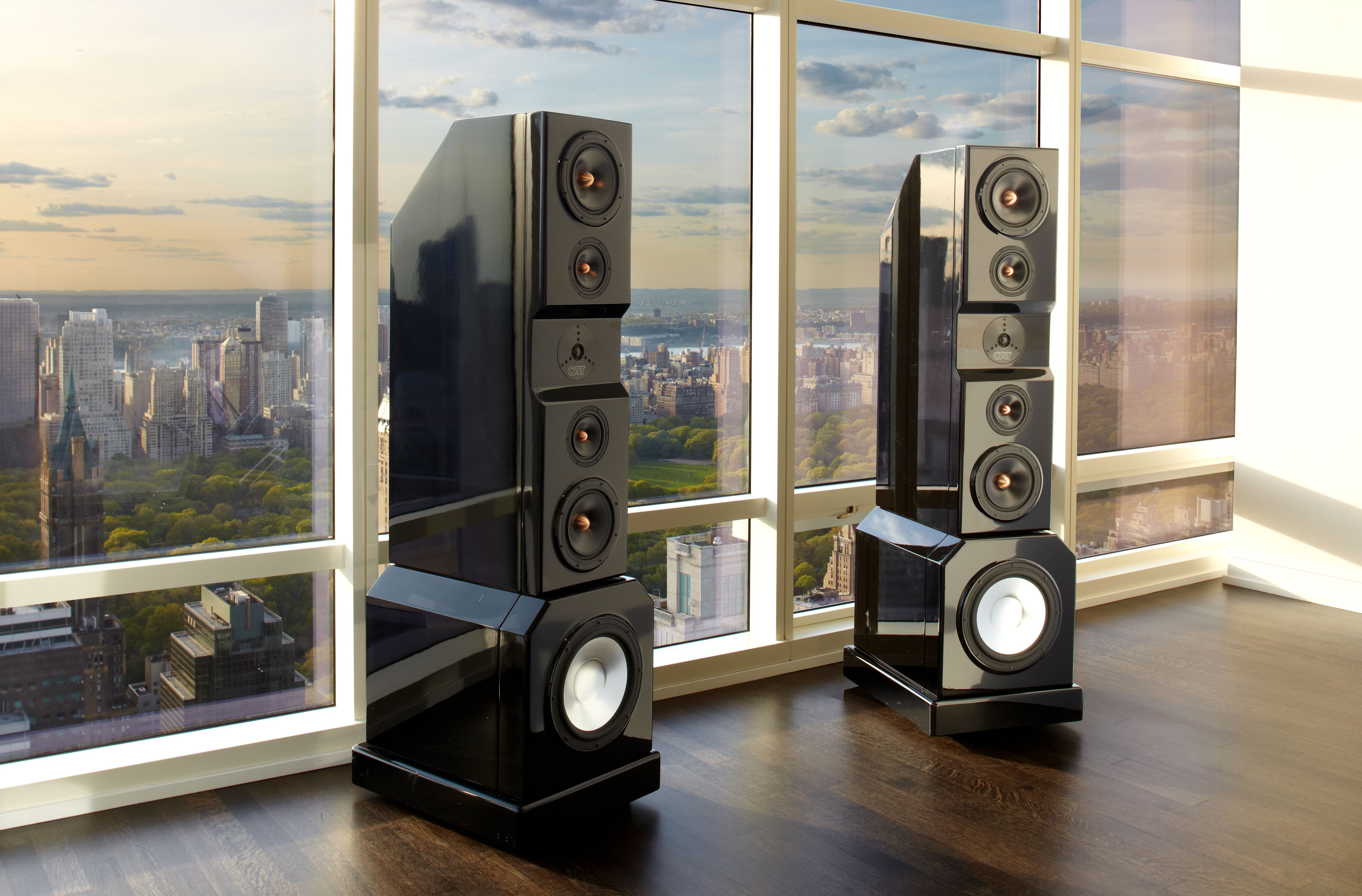 a pair of cat mbx speakers by california audio technology