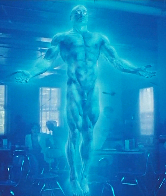 dr manhattan in watchmen 2009 comic book turned movie