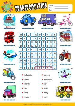 transportation word search puzzle esl vocabulary worksheet charts english exercises english. Black Bedroom Furniture Sets. Home Design Ideas