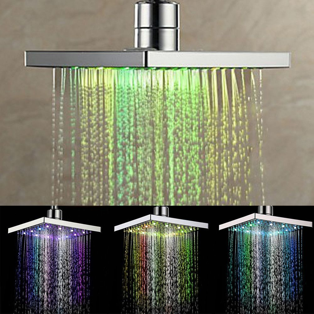 Oberlo Colorful Head Home Bathroom 7 Colors Changing Led Shower Faucet Water Glow Light Shower Faucet Led Shower Head Shower Heads