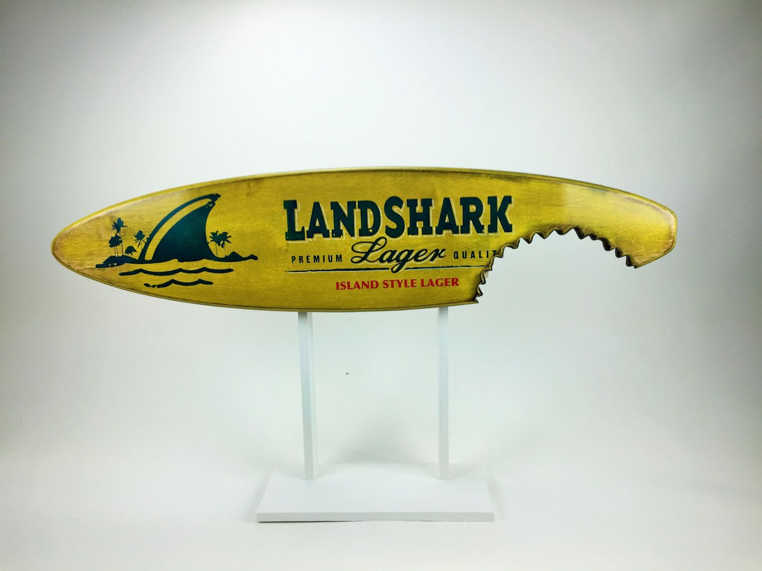 Landshark Surfboard wall hanging surfboard decor OBX Wood surfing ...