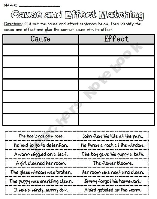 All Worksheets cause and effect worksheets : Cause and Effect Worksheets | Have Fun Teaching | Language Arts ...