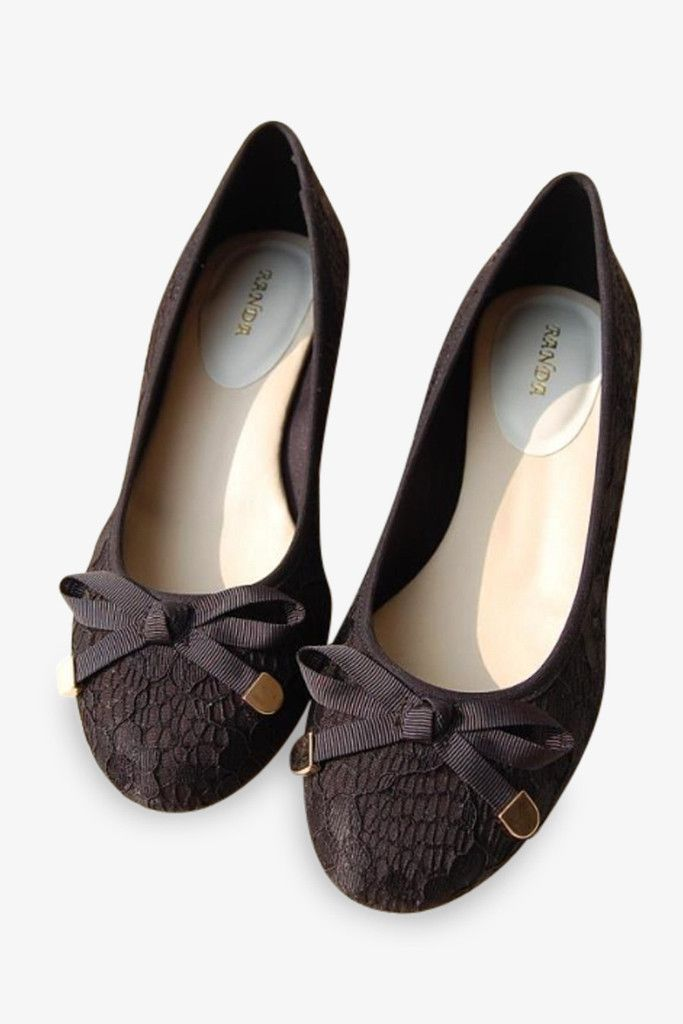 Randa Ballet Lacy Flats In Black. Free 3-7 days expedited shipping to U.S. Free first class word wide shipping. Customer service: help@moooh.net
