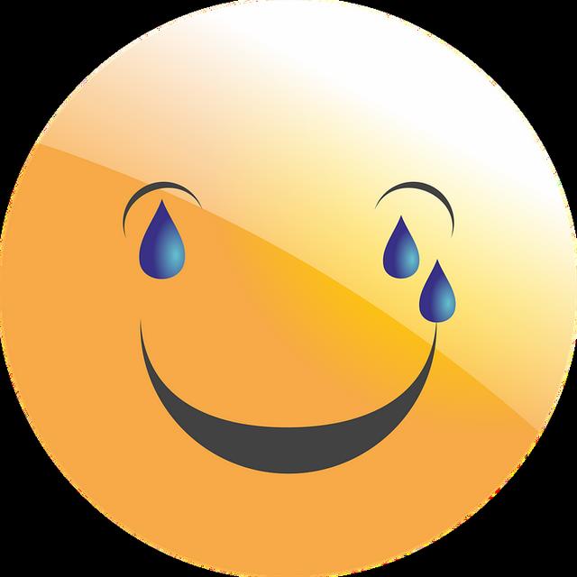 Ig Smiley Jaune Qui Pleure De Rire émoticône Clipart Cartoon