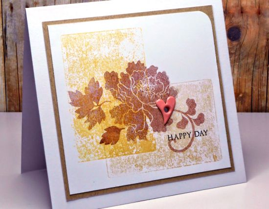 We love the vintage effect that Rema achieved with her acrylic block technique! We think it compliments the Lacy Scrolls perfectly!