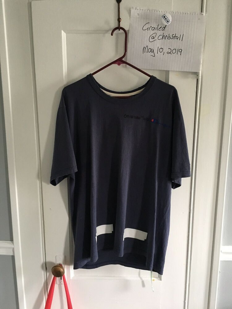 db80079ed5d6 Off-White x Champion T-shirt size Large #fashion #clothing #shoes ...