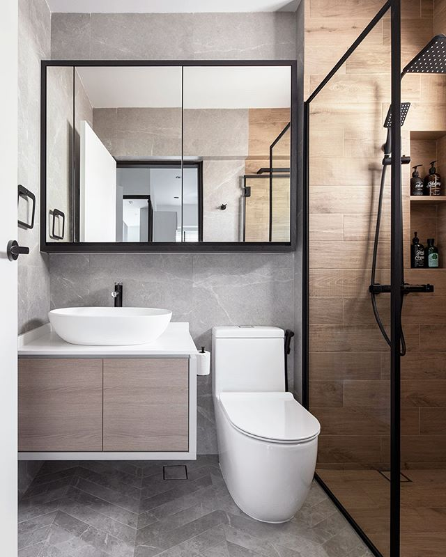 Qanvast Renovation Platform Qanvast Instagram Photos And Videos In 2020 Bathroom Interior Design Bathroom Interior Design Modern Small Bathroom Interior