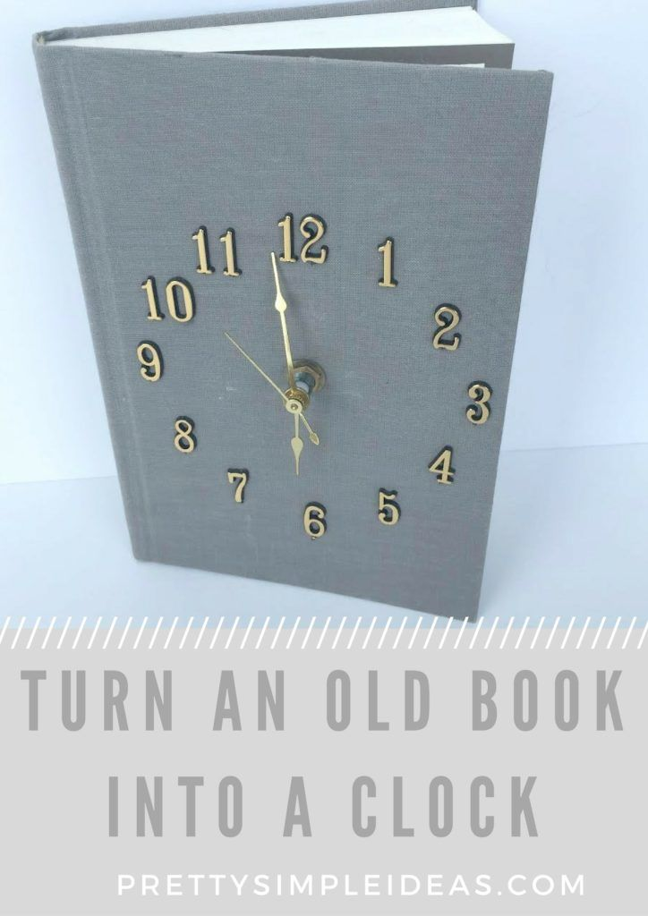 How To Make A Diy Book Clock Book Clock Diy Old Books Diy Book