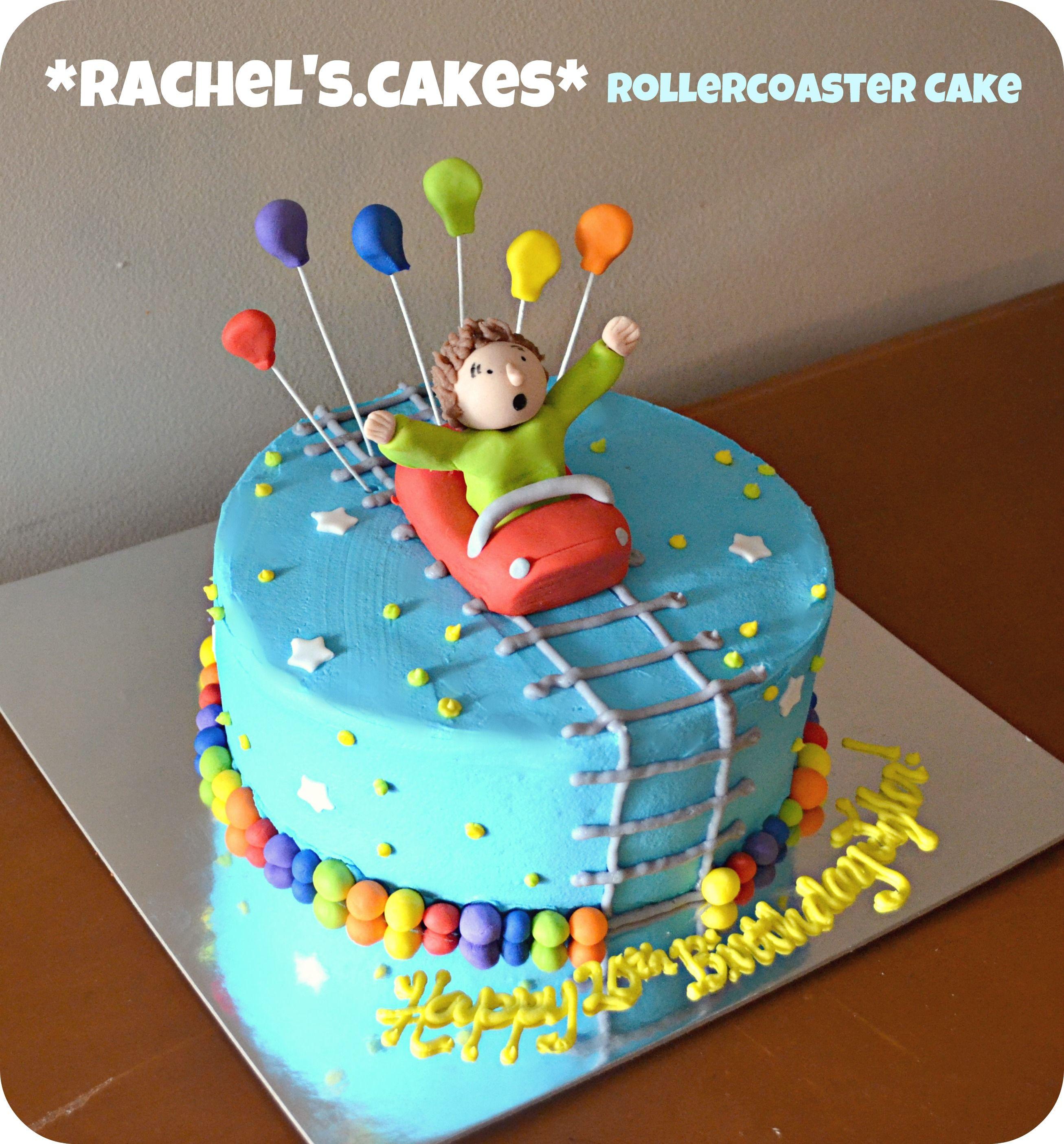 Rollercoaster Cake Roller Coaster Cake Cake Bithday Cake