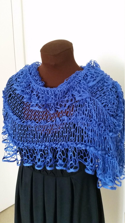 Crochet Summer Lightweight Shawl Starbella Mesh Yarn By