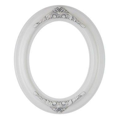 Winchester Oval Frame #451 - Linen White | Pinterest | Oval frame ...