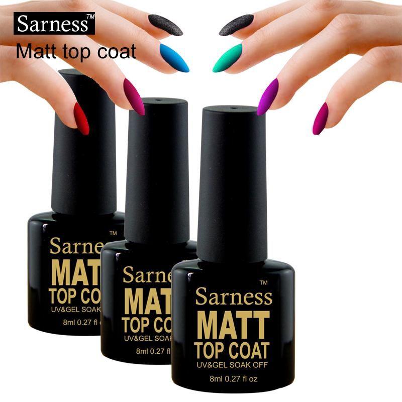 Sarness Transparent Top Coat Gel Lacquer Matte Top Coat Long Lasting ...