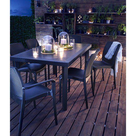 salon de jardin boheme gris anthracite az pinterest. Black Bedroom Furniture Sets. Home Design Ideas