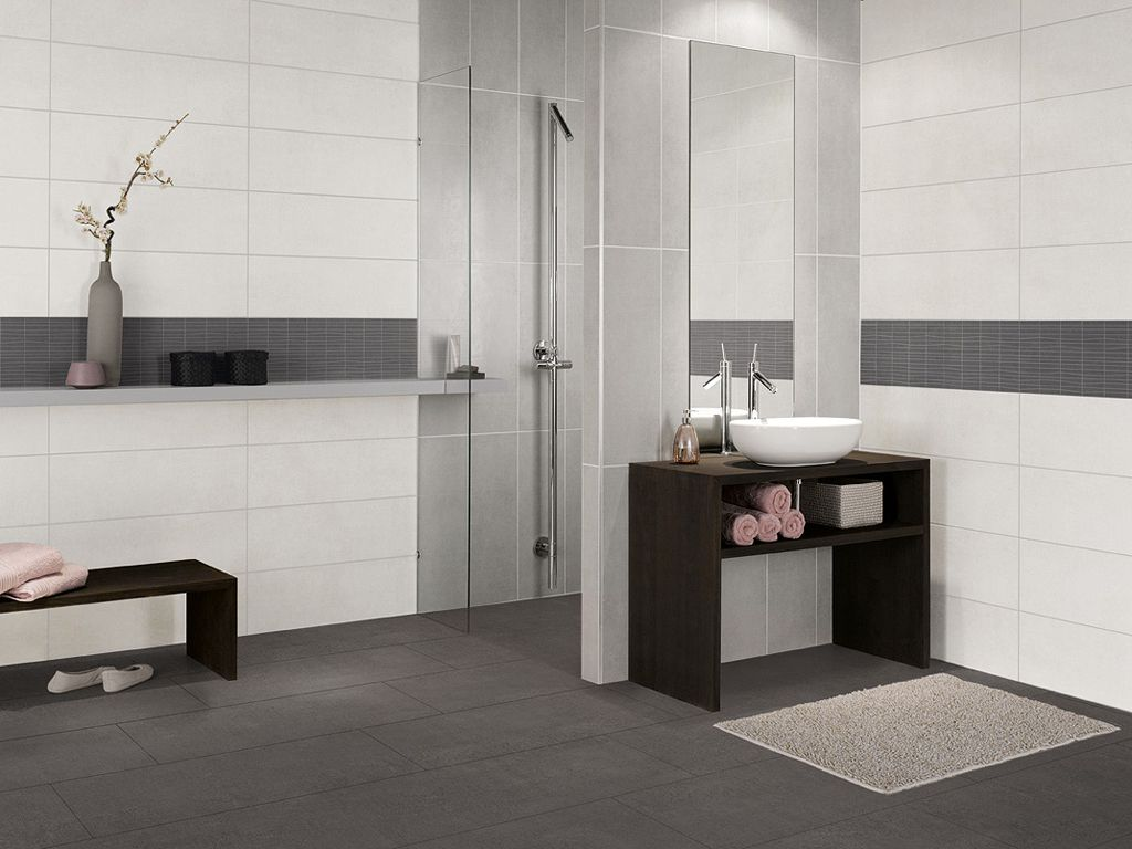 GroBartig Grey Bathroom Tiles, Bathroom Layout, Grey Bathrooms, Modern Bathroom,  Bathroom Ideas,
