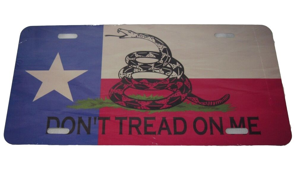 Texas State Flag Gadsden License Plate 6 X 12 Inches New Aluminum In 2020 Texas State Flag State Flags Texas State