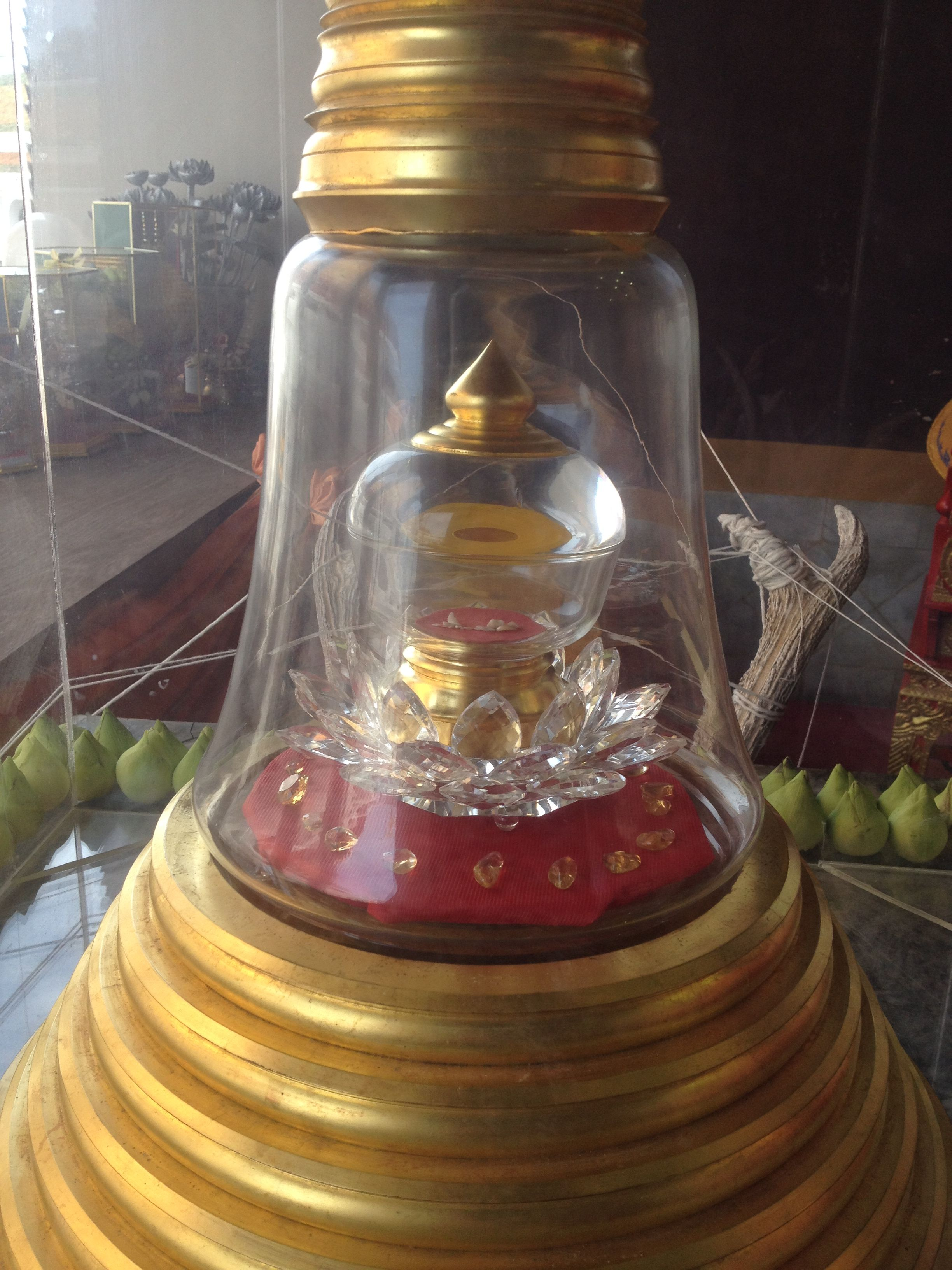พระบรมสารีริกธาตุ ในวัดพระปฐมเจดีย์ จะเป็นมงคลมากถ้าได้มาบูชา  โดยใช้ดอกบัวสดหนึ่งดอกในการสักการะบูชา