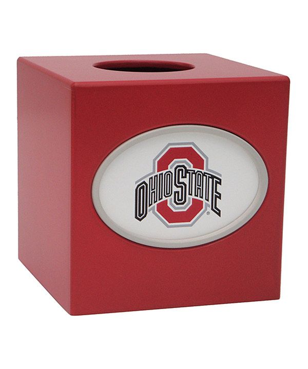 Look at this Ohio State Buckeyes Tissue Box Cover on #zulily today!