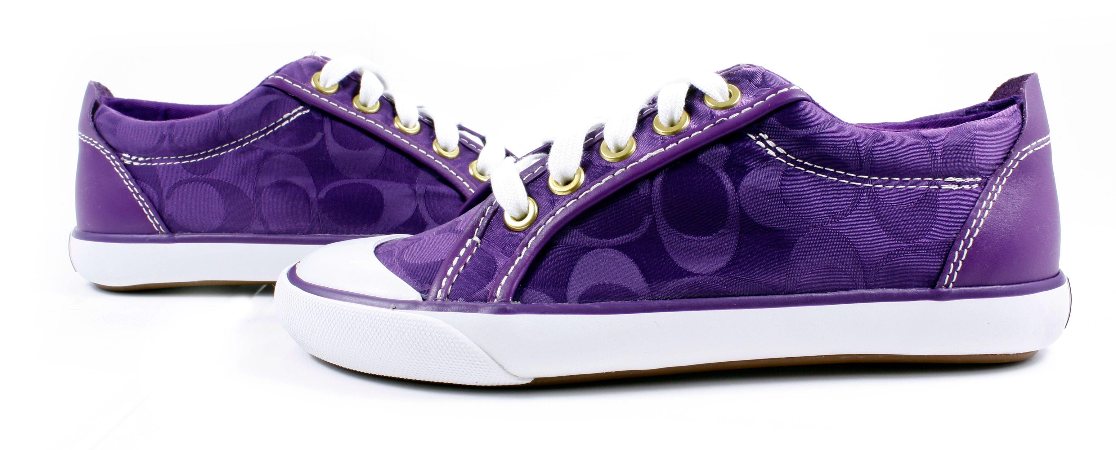 purple coach shoes  34030c8e5