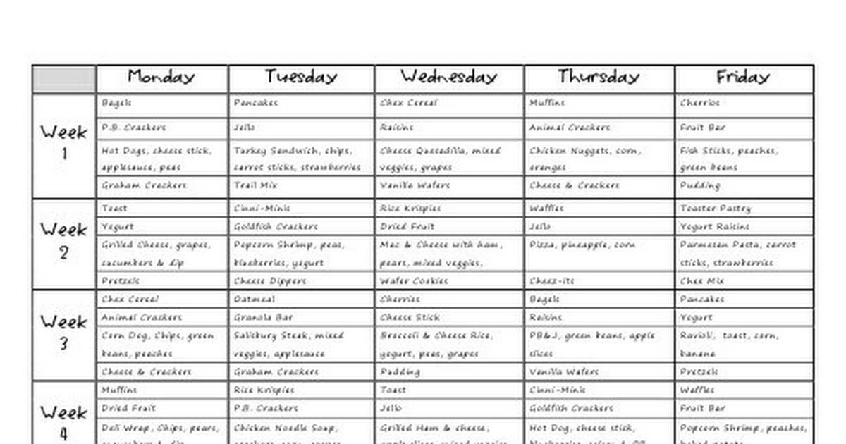 Meal Plan no business name.pdf Starting a daycare