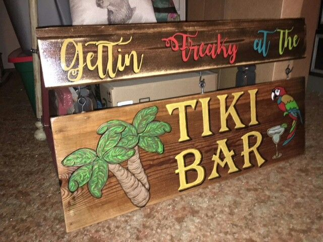 "Margaritaville Wood Sign Beer Sign Nautical Tropical Palm Tiki Bar Man Cave 22/"""