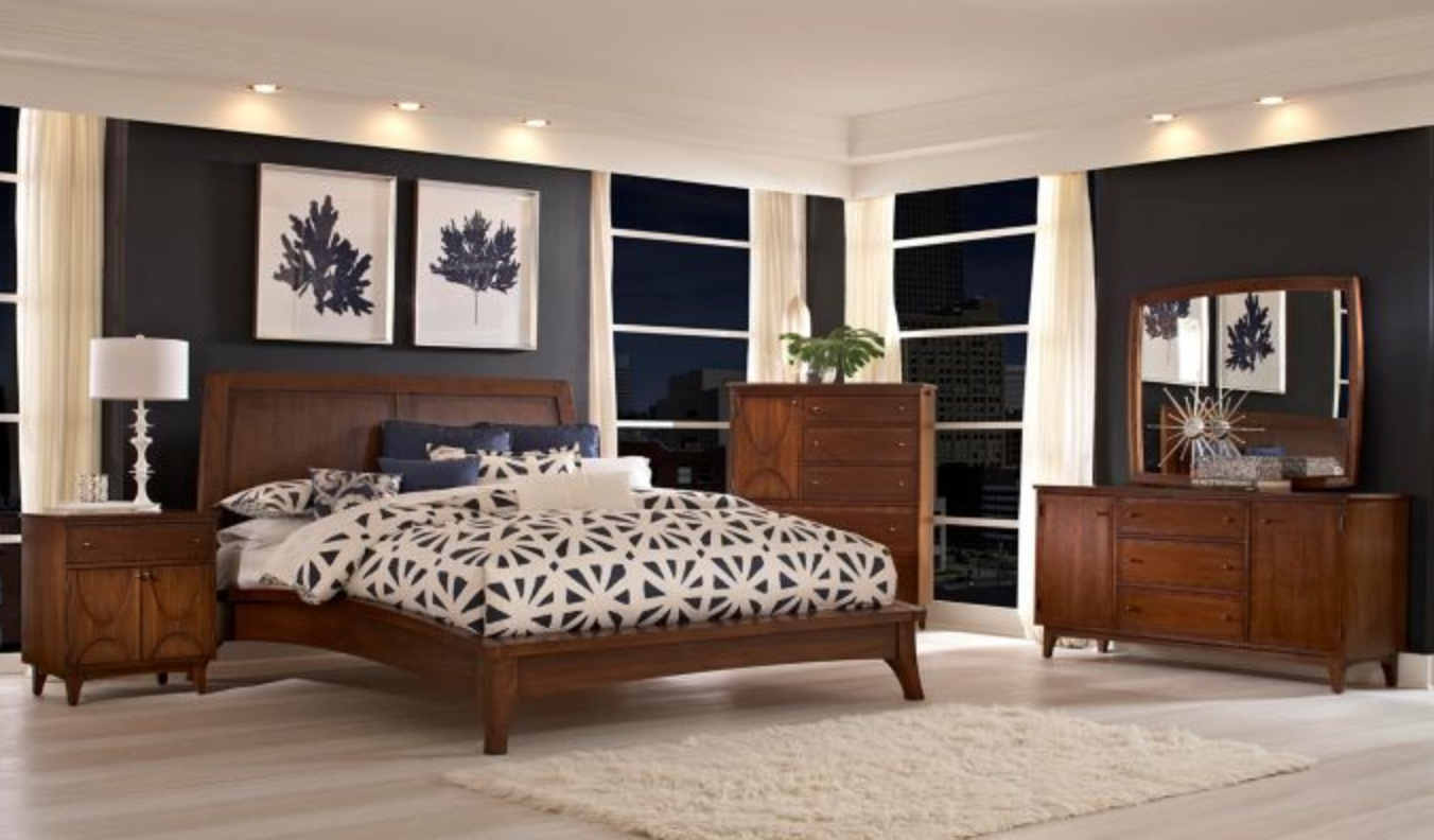 Broyhill Furniture Mardella Bedroom Collection Featuring Platform Bed Nightstand Dresse Broyhill Furniture Broyhill Bedroom Furniture Platform Bedroom Sets