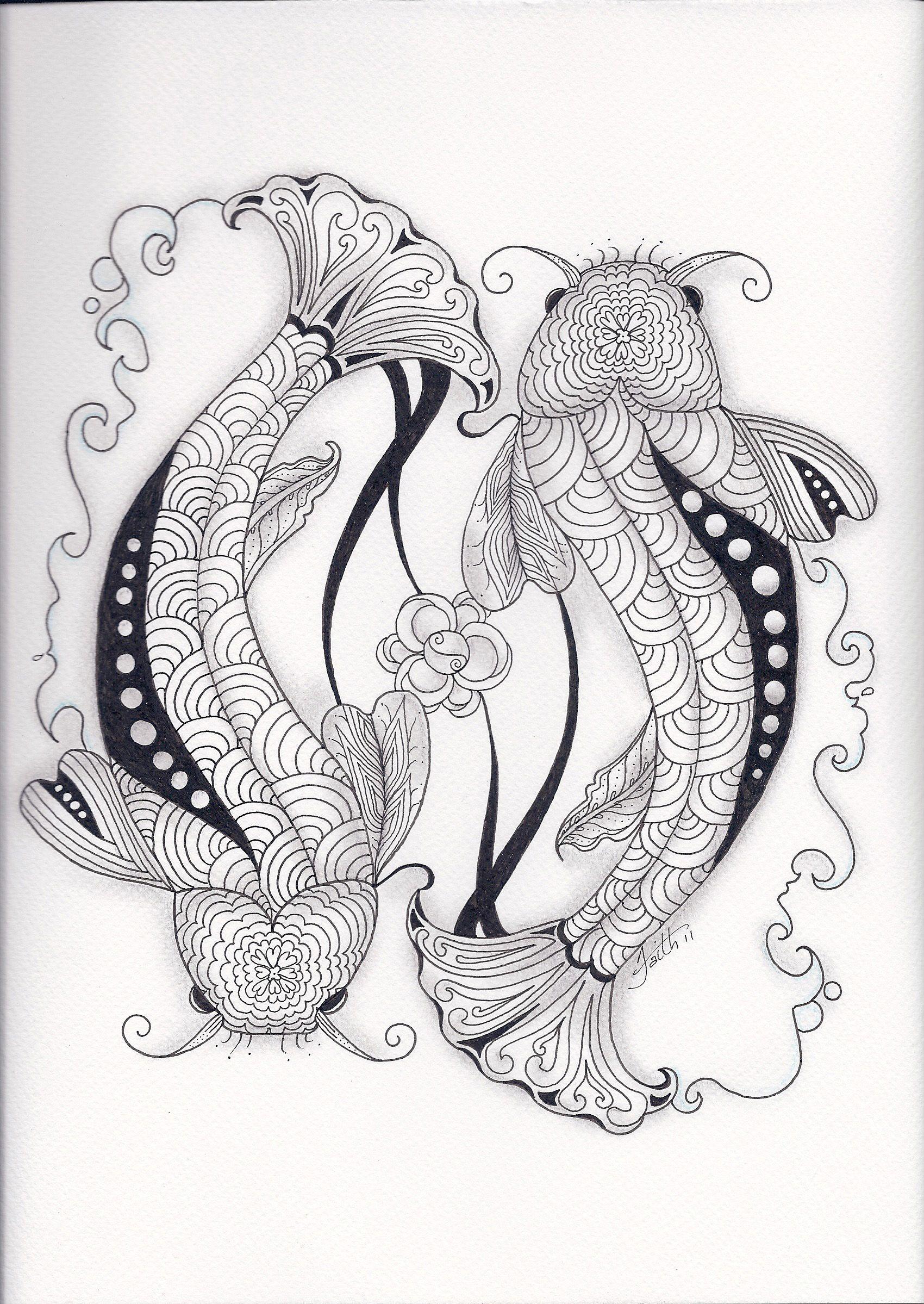 images of zentangle koi pond zentangledzoo zentangal