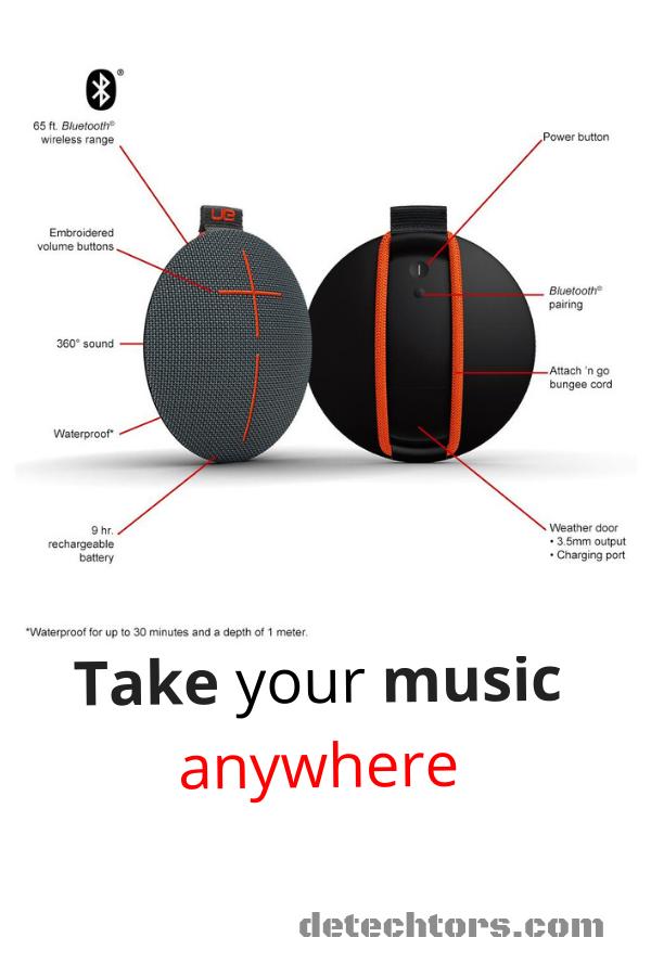 UE ROLL Portable Bluetooth Speaker #bluetooth #speaker #ueroll