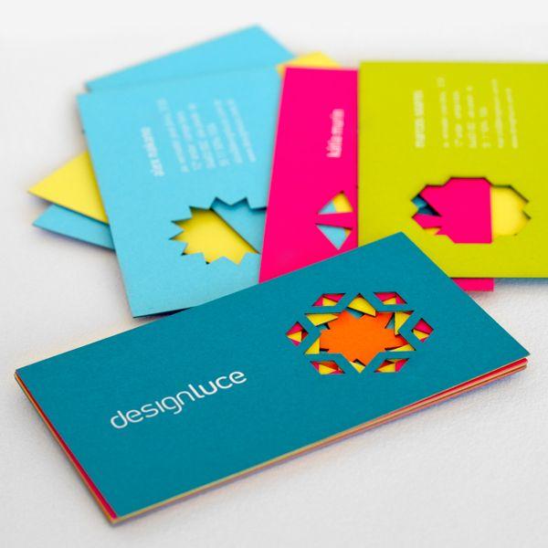 Designluce By Sheila Araujo Via Behance Business Cards Creative Business Card Design Business Card Branding