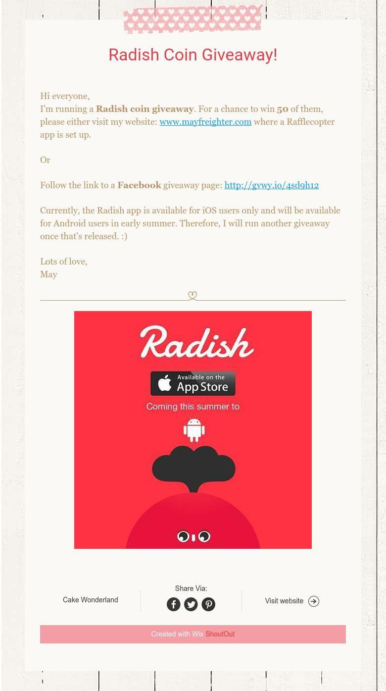 radish coin giveaway 2019