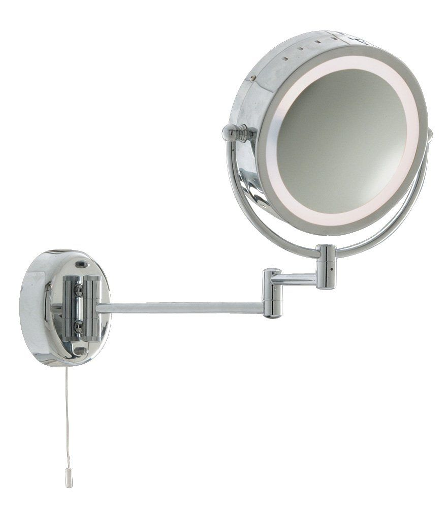Bathroom Magnifying Mirror Wall Light, Chrome Finish, 11824: Amazon ...