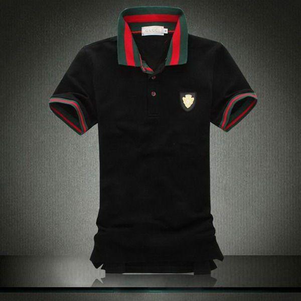 ralph lauren online outlet Gucci Metal Logo Striped Collar ...