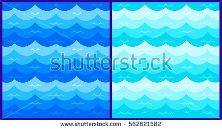 Blue Wave Sea Ocean Vector Illustration Abstract Pattern Background