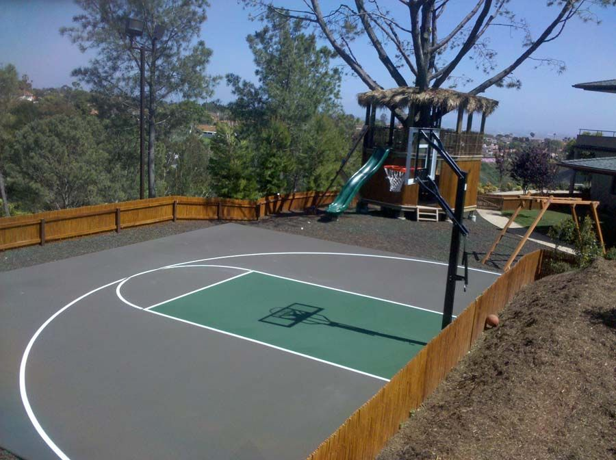 Taupe And Green Color Combo For A Half Basketball Court Tennis Court Basketball Court Court