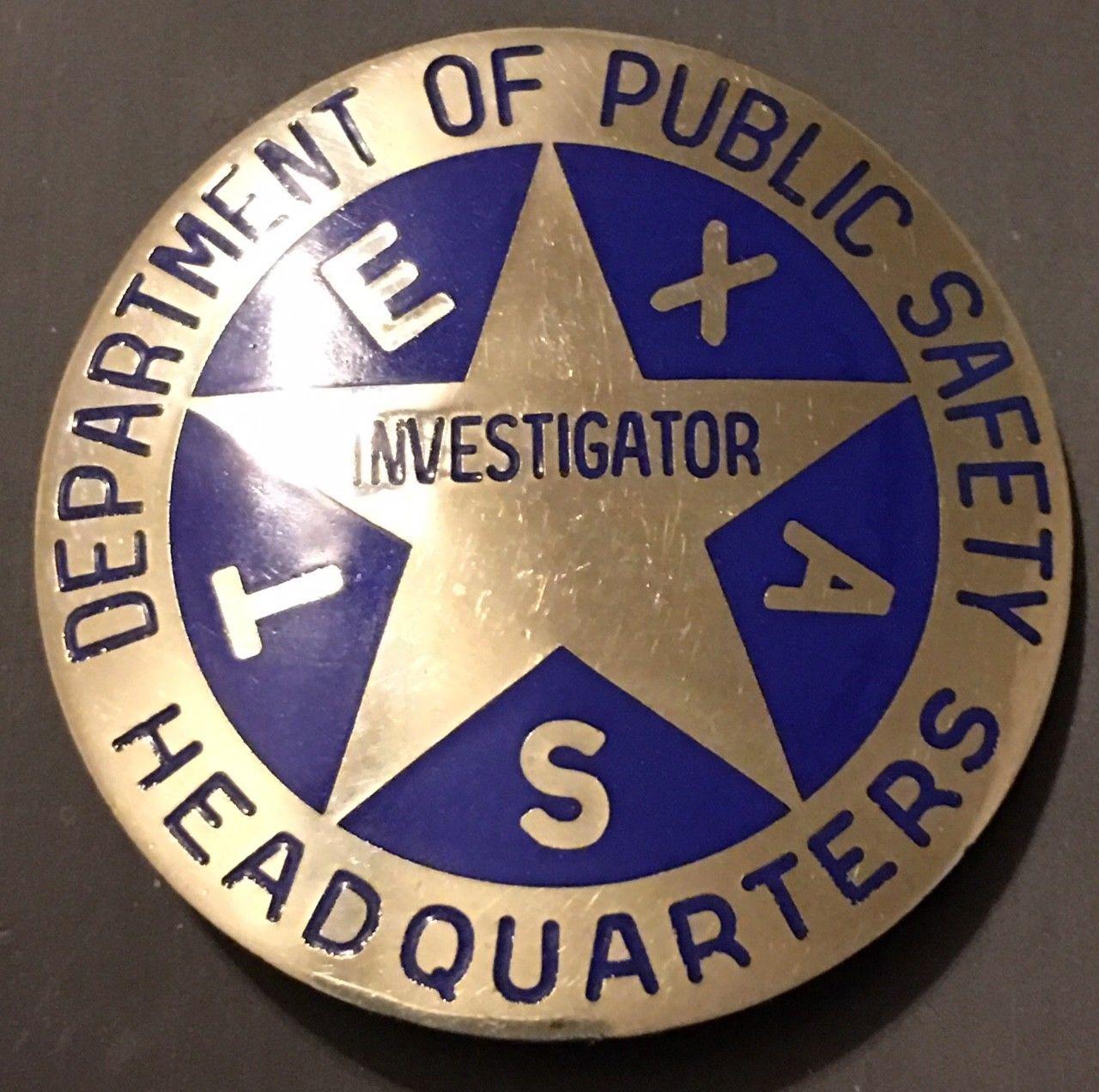 Investigator, Headquarters Department of Public Safety