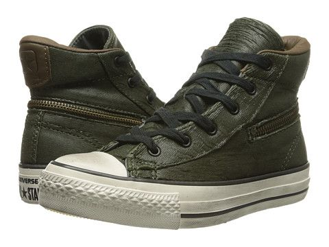 Converse by John VarvatosAll Star Zip Scratched Leather