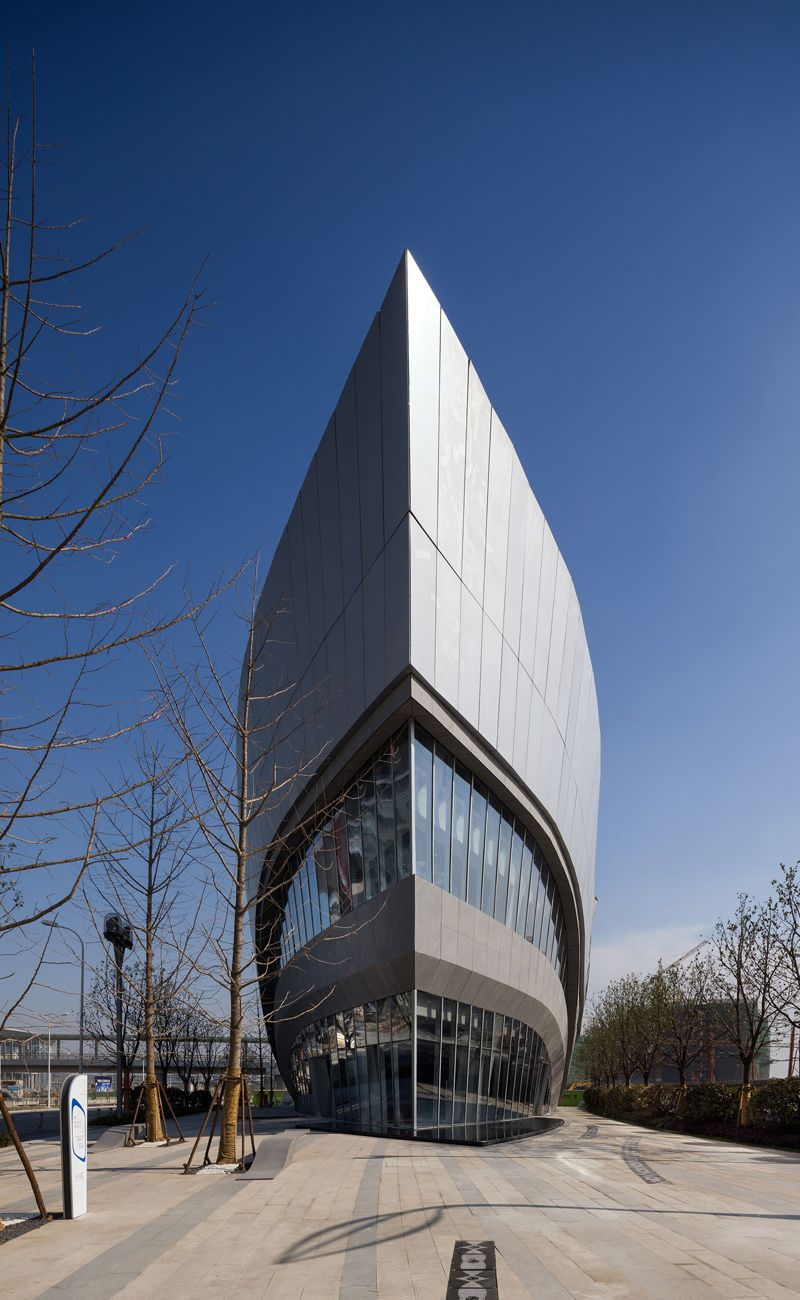 As The First Completed Building In Greenlands Hongqiao World Centre Designed By Aedas Leaf Shaped Gallery Will Exhibit Future Developments Of