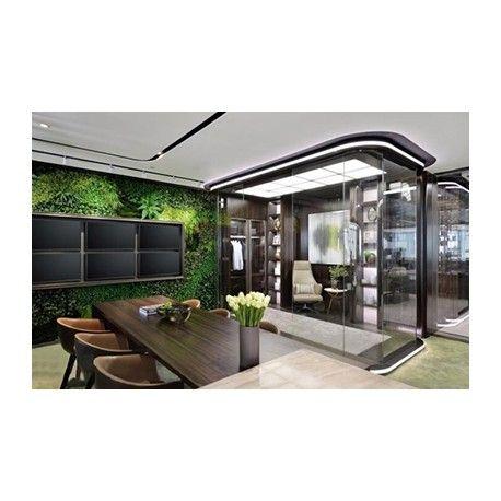 Design vert aménagement bureau contemporain dune société haute technologie 500m²
