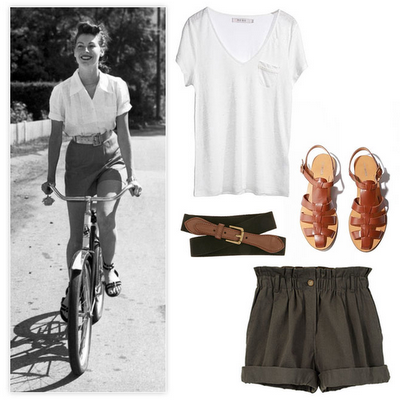 casual cool look for summertime inspired by old-school movie stars