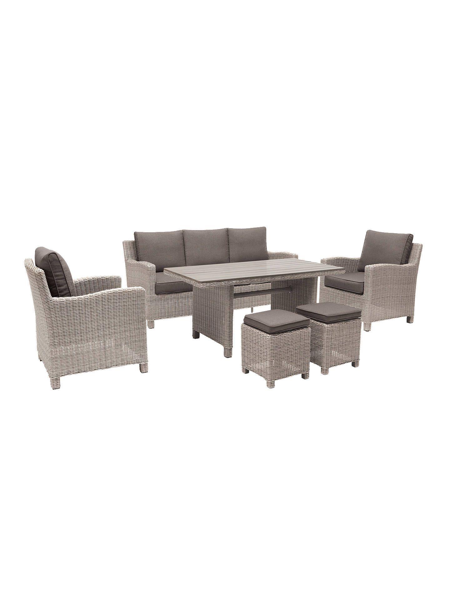 Kettler Palma 7 Seater Garden Lounging Set Rattan Garden Furniture Sets Casual Dining Table Seater