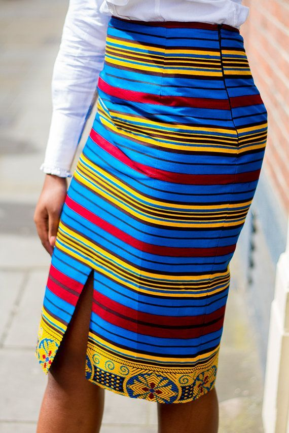 African Clothing African pencil skirt African Print by Laviye ... 49dc18e62