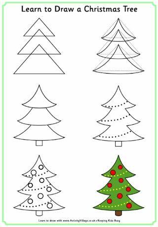 Online Homeschooling Ideas Homeschool Middleschool Highschool Drawing Draw Christmas Tree Drawing Christmas Drawing Easy Christmas Drawings