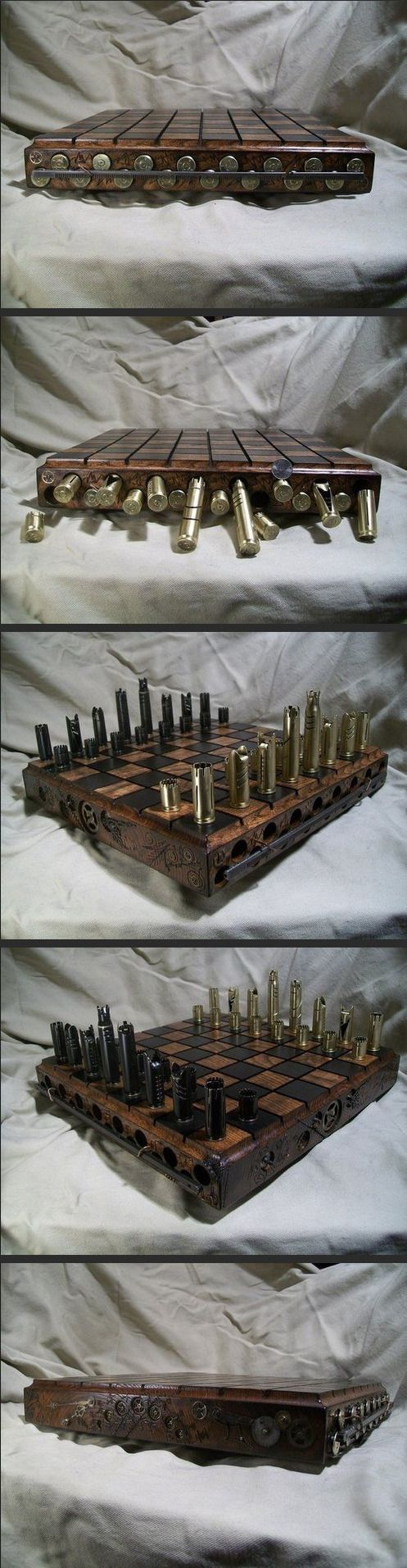 Possibly the coolest chess set i have ever seen.