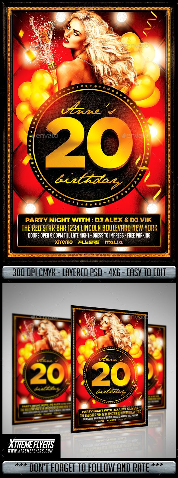 Birthday Flyer  Psd Templates Template And Flyer Template