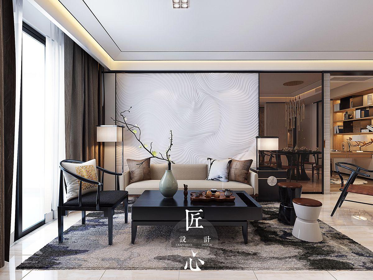 Best 新中式,希望你喜欢:) On Behance Interior Design Living Room 400 x 300