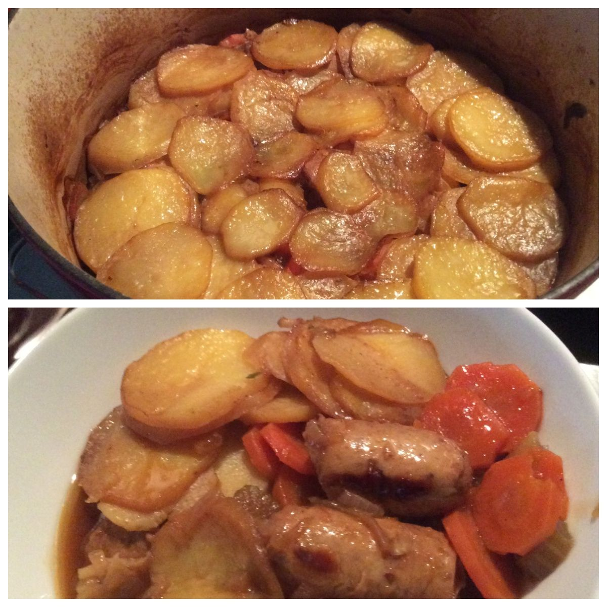 Dublin Coddle, from the new SW recipe book I used the new SW Syn free sausages from Iceland to make the whole dish Syn free on EE I also added carrot and celery to the dish as I love my veggies !