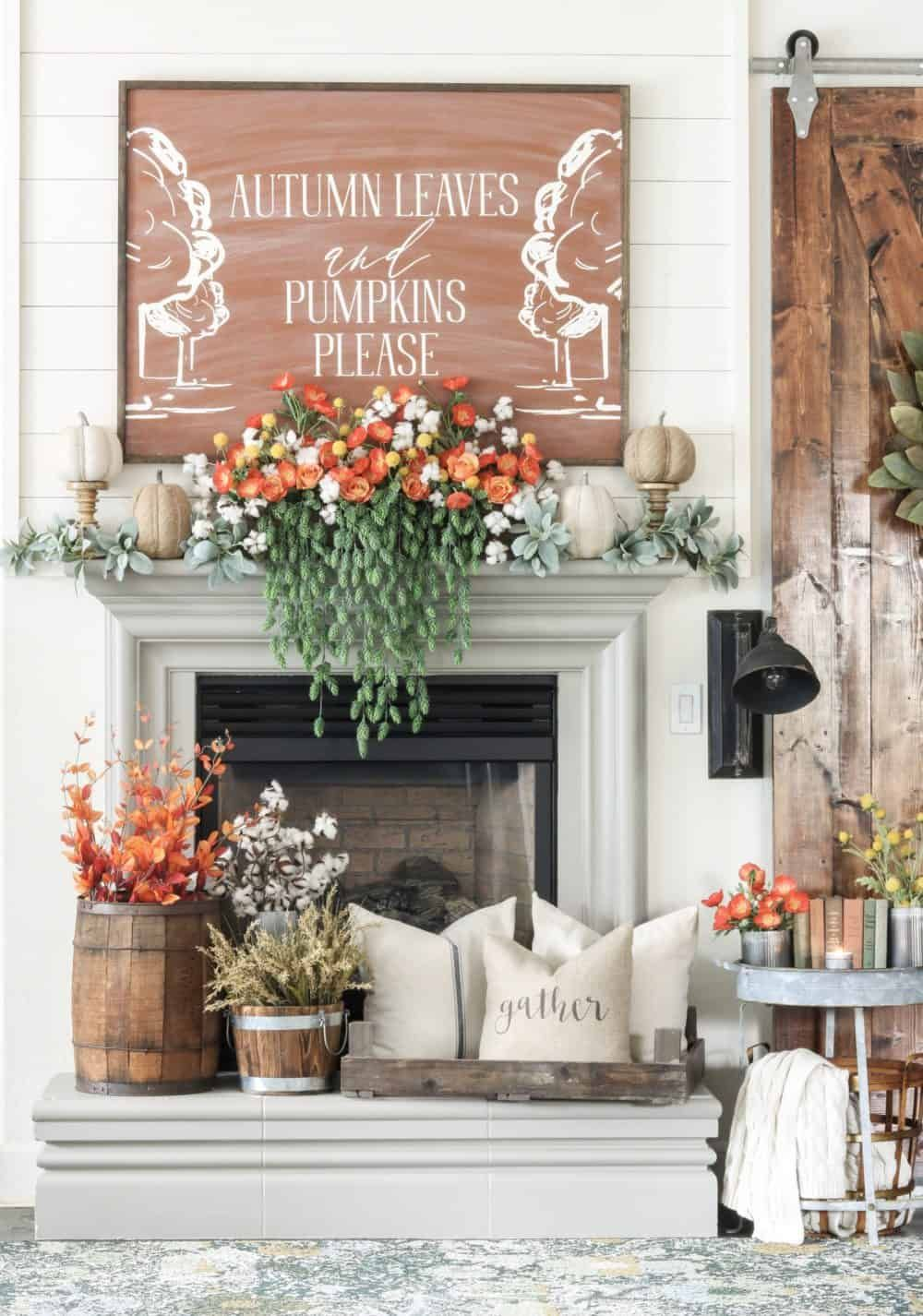 25 inspiring fall mantel decorating ideas bloggers best fall rh pinterest com