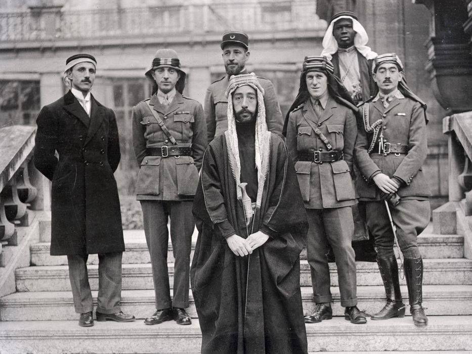 Emir Faisals Delegation At Versailles During The Paris Peace