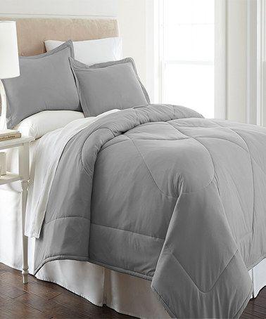 Graystone Micro Flannel 174 Comforter Set Zulily Zulilyfinds Comforter Sets Comforters Luxury