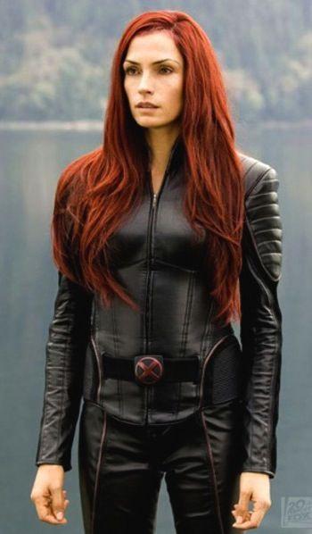 A photo of Famke Janssen as Phoenix in X-Men 3. I brought ...