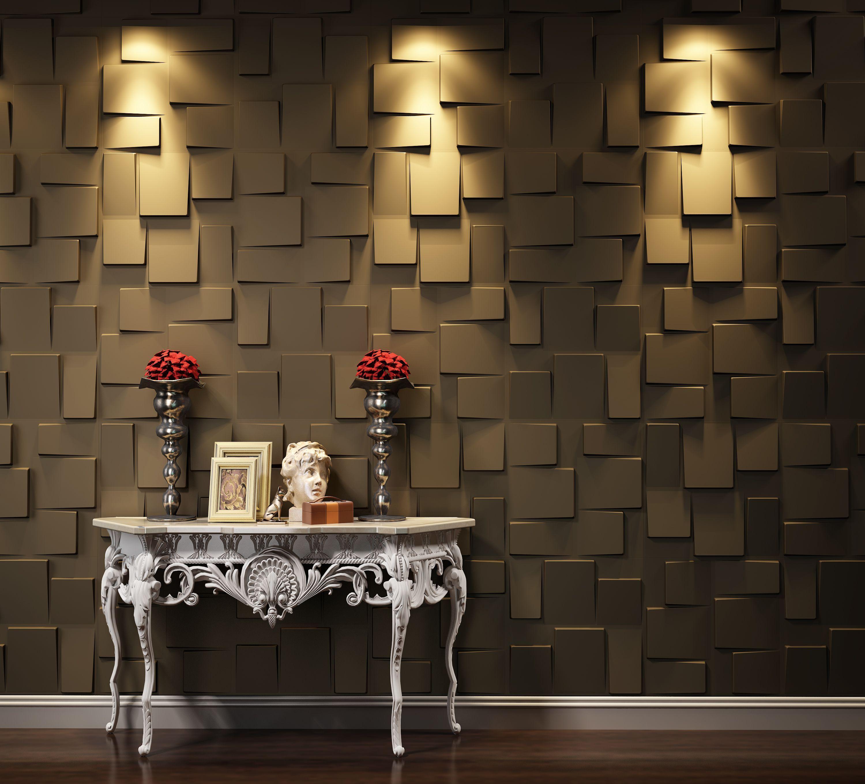 Idee für Wohnzimmer Wand. 3D Wandpaneele aus Naturmaterialien wie ...